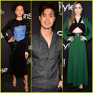 Storm Reid, Lily Collins, & Ross Butler Keep It Chic at InStyle Awards 2018