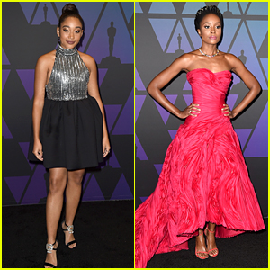 Breakout Stars Amandla Stenberg & KiKi Layne Attend the Governors Awards 2018!