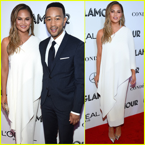 Chrissy Teigen Couples Up With John Legend While Getting Honored at Glamour Women of the Year Awards