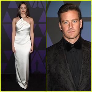 'On The Basis of Sex' Co-Stars Felicity Jones & Armie Hammer Attend Governors Awards 2018