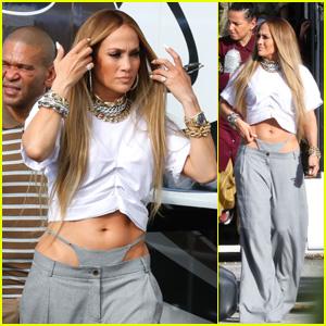 Jennifer Lopez Rocks a High-Riding Thong While Shooting Music Video With DJ Khaled!