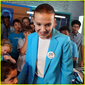 Millie Bobby Brown Goes 'Millie Bobby Blue' for UNICEF World Children's Day - Watch!