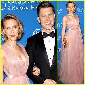 Scarlett Johansson & Colin Jost Couple Up for Museum of Natural History Gala