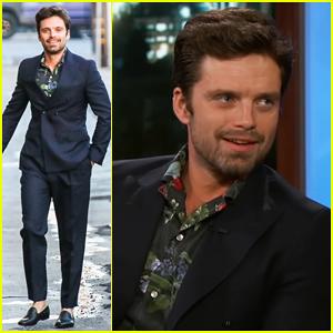 Sebastian Stan Denies Talks About Becoming Captain America on 'Jimmy Kimmel Live'