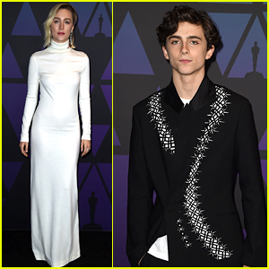 Timothee Chalamet & Saoirse Ronan Step Out in Style for Governors Awards 2018!