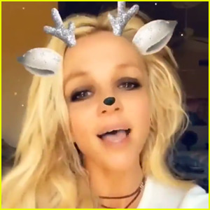 Britney Spears Sings 'White Christmas' for Her Fans! (Video)