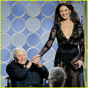 Catherine Zeta-Jones Shares Touching Tribute to Father-in-Law Kirk Douglas on His 102nd Birthday!