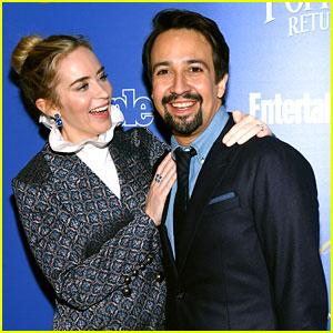 Emily Blunt & Lin-Manuel Miranda Are All Smiles at 'Mary Poppins Returns' NYC Screening