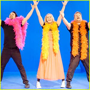 Emily Blunt & Lin-Manuel Miranda Perform 22 Musicals in 12 Minutes with James Corden!