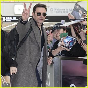 Hugh Jackman Greets Fans While Arriving in Japan!