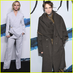Robert Pattinson & Christina Ricci Step Out For 'Dior Homme' Fashion Show in Paris