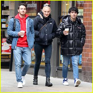 Sophie Turner & Joe Jonas Hang Out With Kevin Jonas in NYC!