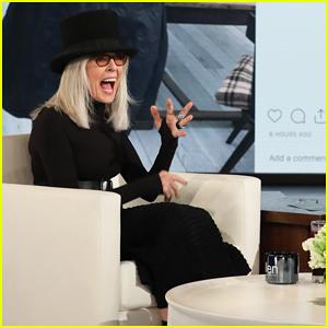 Diane Keaton Talks Possibility Of Being 'Sugar Mama' with 'Ellen'