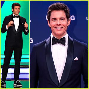 James Marsden Pairs Sneakers with His Tux While Hosting Laureus Sports Awards