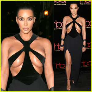 Kim Kardashian Wears Super Sexy Dress to Hollywood Beauty Awards 2019!