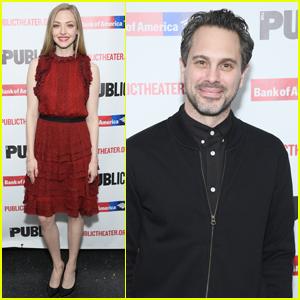 Amanda Seyfried Supports Husband Thomas Sadoski at Opening Night of 'White Noise'