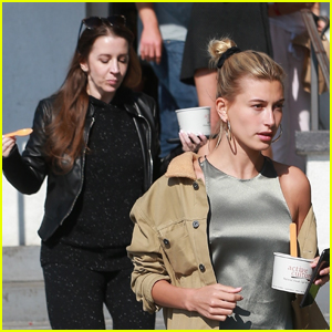 Hailey Bieber Grabs Frozen Yogurt with Justin's Mom Pattie
