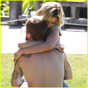 The Biebers Packed on PDA in a Park - See Photos!