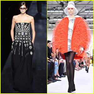 02017216668 Kaia Gerber Transforms For Givenchy   Valentino at Paris Fashion Week