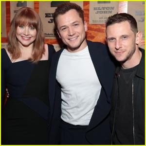 Taron Egerton Joins Co-Stars Jamie Bell & Bryce Dallas Howard at 'Rocketman' Screening