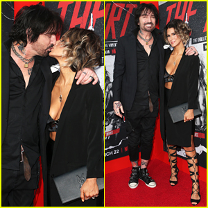Tommy Lee & Wife Brittany Furlan Pack on the PDA at 'The Dirt' Premiere!