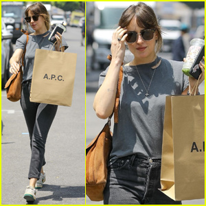 c9bf1148da Dakota Johnson started her weekend with a little retail therapy!