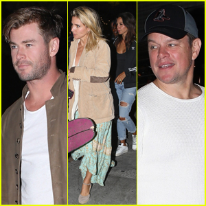 Chris Hemsworth & Matt Damon Double Date with Their Wives!