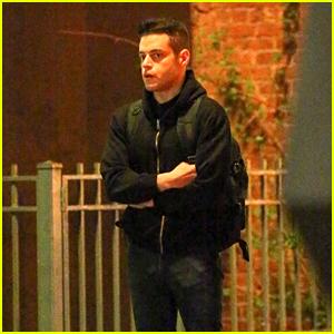 Rami Malek Continues Filming Final Season of 'Mr. Robot' in New York City