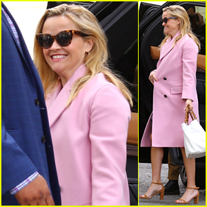 Reese Witherspoon Looks Pretty in Pink for Easter Sunday Church Service