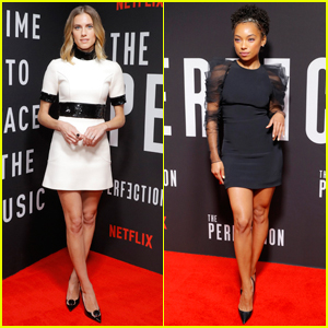 Allison Williams & Logan Browning Attend 'The Perfection' Premiere in NYC!