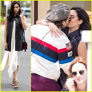 Brooklyn Beckham Steals a Kiss From Girlfriend Hana Cross in Cannes