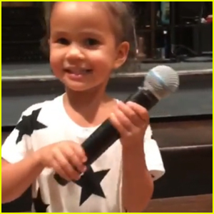 Chrissy Teigen Shares Adorable Videos of Daughter Luna on Stage at 'SNL' - Watch Now!