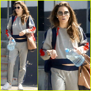 Jessica Biel Rocks Cute Matching Set For Casual Afternoon