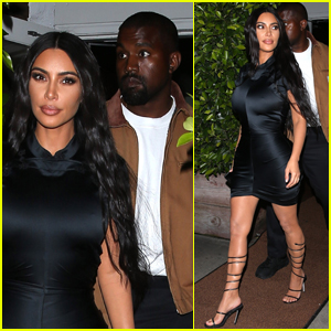 Kim Kardashian & Kanye West Step Out for Dinner After Welcoming Son Psalm