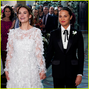 Lily James & Alicia Vikander Get Married in Red Nose Day Special!