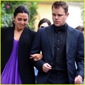 Matt Damon & Wife Luciana Step Out in Style for Dinner in Italy!