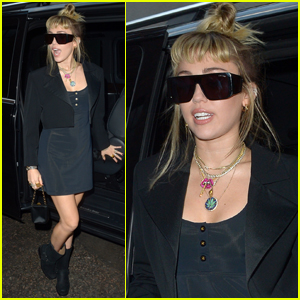 Miley Cyrus Rocks Little, Black Dress for Night Out in London