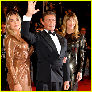 Sylvester Stallone's Wife & Daughter Join Him at 'Rambo' Cannes Screening!