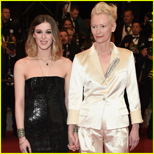 Tilda Swinton & Daughter Honor Step Out for 'Parasite' Screening at Cannes Film Festival