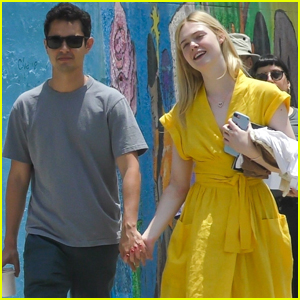 Elle Fanning Holds Hands with Boyfriend Max Minghella While Shopping!