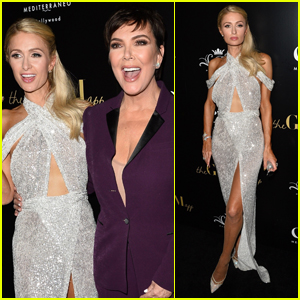 Kris Jenner Supports Paris Hilton at The Glam App Launch Event!