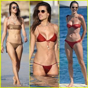 Alessandra Ambrosio Rocks Sexy Bikinis on Vacation in Mykonos!