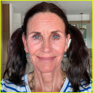 Courteney Cox Has Some Fun Trying Out the FaceApp!