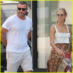 Liev Schreiber & Girlfriend Taylor Neisen Walk Their Dog in NYC