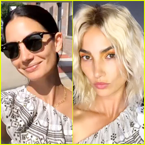 Lily Aldridge Looks Totally Different With Platinum Blonde Hair!