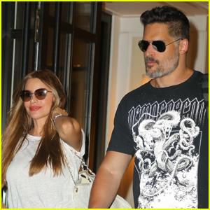 Sofia Vergara & Joe Manganiello Check Out of Their NYC Hotel