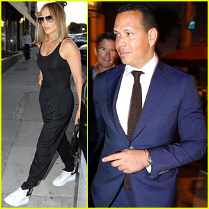 Jennifer Lopez & Alex Rodriguez Keep It Chic for Dinner Date
