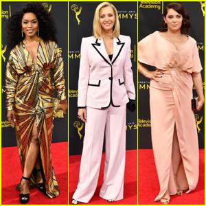 Angela Bassett, Lisa Kudrow & Rachel Bloom Step Out For Creative Arts Emmys 2019