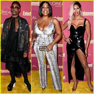 Emmy Noms Billy Porter, Niecy Nash, & Laverne Cox Step Out for EW's Pre-Emmys Party