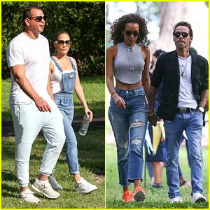 Jennifer Lopez & Alex Rodriguez Meet Up With Marc Anthony & Girlfrend Raffaella Modugno in Miami